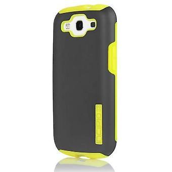 Incipio DualPro Case for Samsung Galaxy S3 - Dark Gray/Yellow