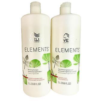 Wella elementer hår sjampo og balsam duo hver 33.8 oz