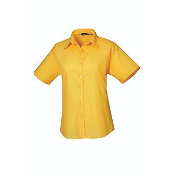 Premier short sleeve poplin blouse pr302 bright colours