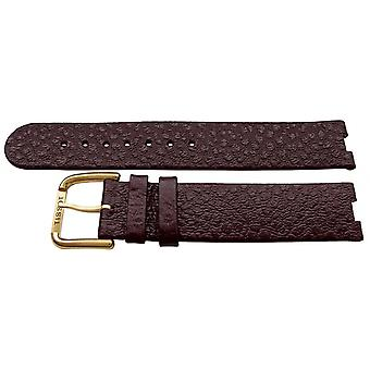 Authentic tissot watch strap brown calf 18mm