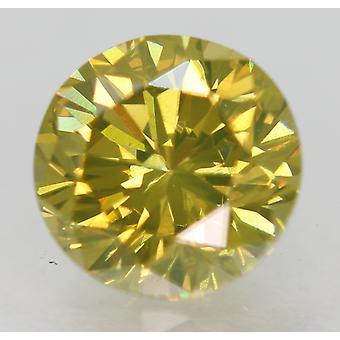 Cert 1.42 カラット ブラウン イエロー VVS1 ラウンド ブリリアント エンハンスド ナチュラル ダイヤモンド 6.99m