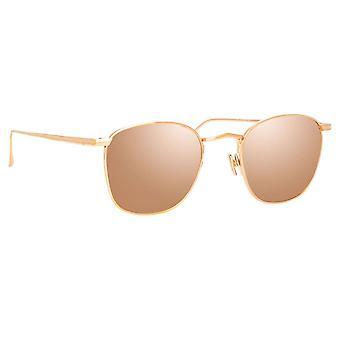 Linda Farrow SIMON LFL479 SUN C3 Rose Gold/Rose Gold Sunglasses