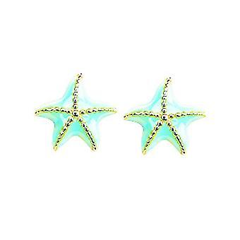 Ohrringe Blau Stern-und-go blau Fushia Gold 750/1000 gelb (18K)