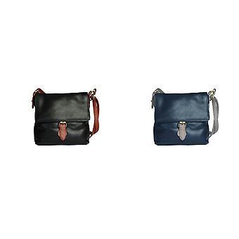 Eastern Counties Leather Womens/Ladies Bonnie Contrast Buckle Handbag