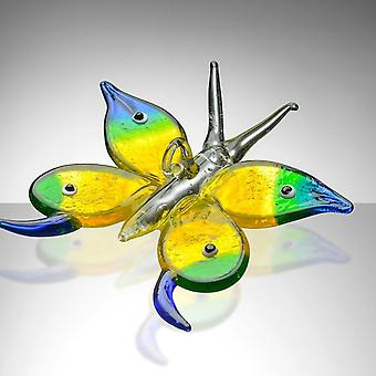 Sienna Glass Butterfly Blue, Green & Yellow