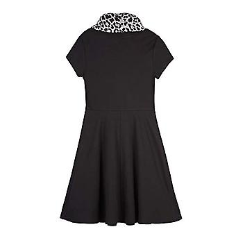 Amy Byer Girls' Short Sleeve Fit and Flare Dress with, Black, Size X-Large