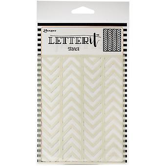 """Ranger Letter It Hintergrund Schablone 4.75""""X6"""" - Abwechselnd Chevrons"""