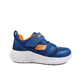 Skechers Bounder - Zallow 98302L Blue Boys Rip Tape/Bungee Lace Trainers