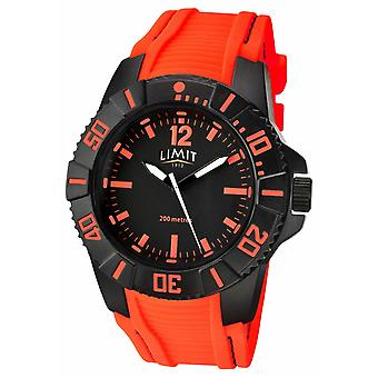 Limit Mens Active Orange Strap Black Dial 5547.02 Watch