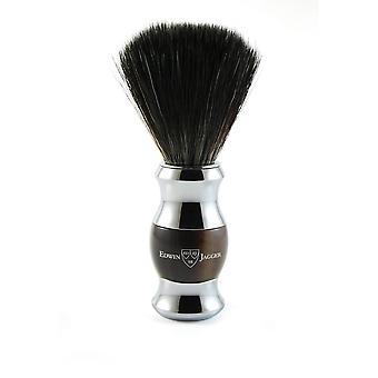 36 range barbering børste / svart syntetisk fiber / imitasjon lys horn / forkrommet