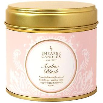 Amber Blush Tin Candle by Shearer Candles