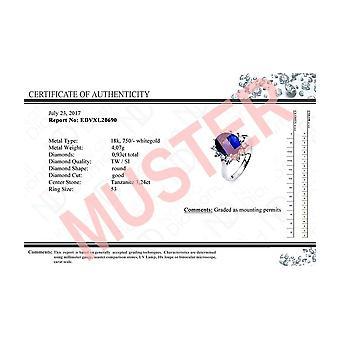 Diamond Gemstone Earrings - 750/- WG - 0.36 ct. - 1.19 ct. - 2H094W8-2