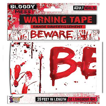 Bristol Novelty Bloody Mess Beware Warning Tape Banner