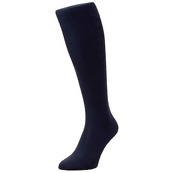 Pantherella Jackman Over de kalf Silk breien sokken - zwart