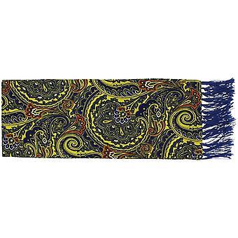Michelsons av London ljusa Paisley sidenscarf - gul