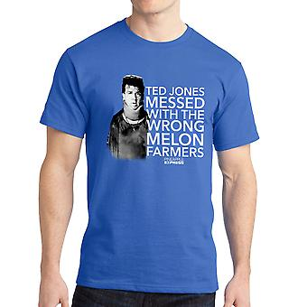 Pineapple Express Melon Farmers Red Quote Men's Royal Blue T-shirt