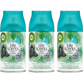 3 x air wick freshmatic max automaattinen spray täyttö 250ml - metsävedet