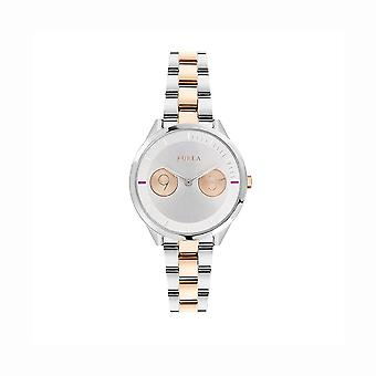 Furla R4253102507 Ladies Two-Tone Gold and Silver Watch - Silver