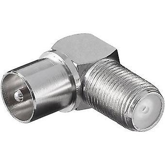 Sat Antenneadapter F-Buchse Coax Stecker 1 Stück(s)