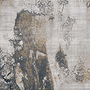 3'x5' Grau Ziegel Maschine gewebt abstrakte Aquarell Indoor-Bereich Teppich
