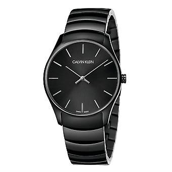 Calvin Klein K4D21441 Classic Too Quartz Black Dial Unisex Watch
