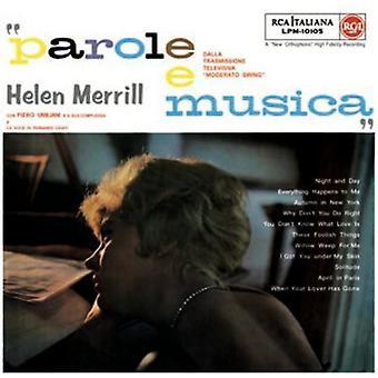 Hellen Merrill - Parole E Musica [Vinyl] USA import