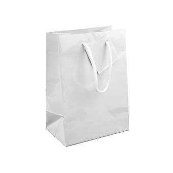 Vit Glans presentpåse, liten förpackning med 5 170x120x75mm