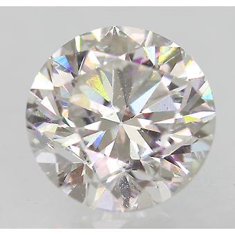 معتمد 1.01 قيراط F VVS2 جولة رائعة المحسنة الطبيعية فضفاضة الماس 6.26m
