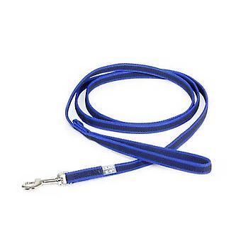 """Julius-K9 Color & Grey Super-Grip Leash Blue-Grey Width (1/2"""" / 14mm) Length (7ft / 2.2 m) Max for 66lb/30 kg Dog"""