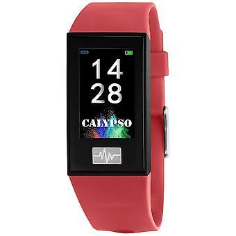 Calypso Unisex | Smartime | Roter Silikonband + Free Strap K8500/4 Uhr