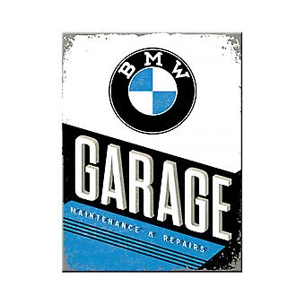BMW Garage Nostalgic Metal Magnet - Cracker Filler Gift