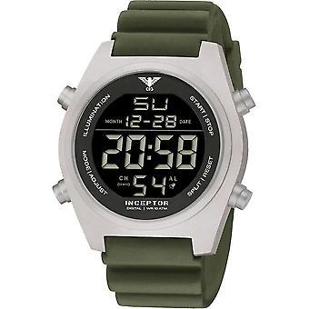 KHS - Men's Watch - Inceptor Steel Digital Diver Strap Olive KHS. INCSD. Thu