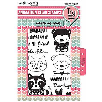 Uchi's Design Animation Clear Stamp and Dies Critters