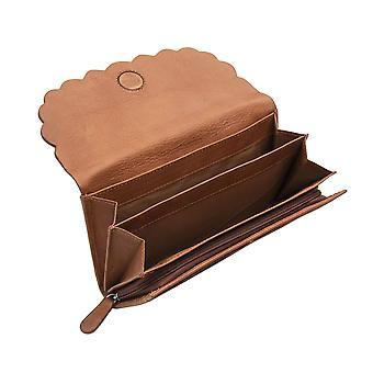 Primehide Kvinnors Läder Matinee Handväska RFID Blockerande korthållare Plånbok 6525
