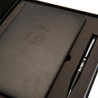 Liverpool FC notatbok og penn sett