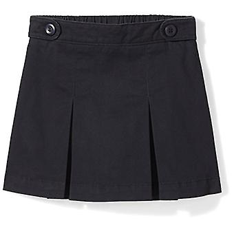 Essentials Little Girls' Uniform Skort, Black Beauty, XS (4-5)