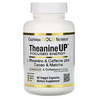 California Gold Nutrition, TheanineUP Focused Energy, L-Theanine & Caffeine, 60