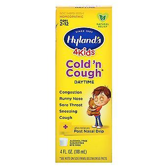 Hyland's, 4 Kids, Cold 'n Cough, Daytime, Ages 2-12, 4 fl oz (118 ml)