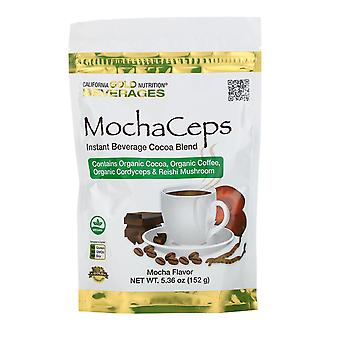 California Gold Nutrition, MochaCeps, Mocha Flavor Instant Beverage with Organic