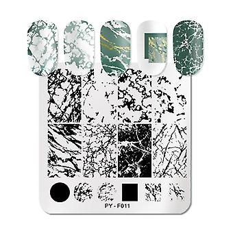 Marble Striped Line -nail Stamping Plates Flower, Leaves Geometric Plate,