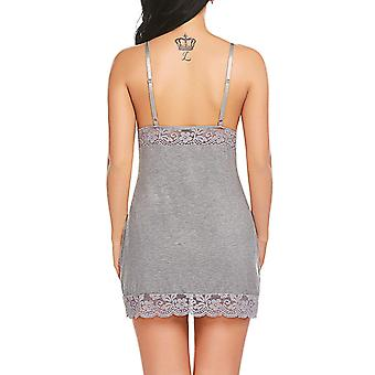 ADOME Kvinnor Sleepwear Lace Nighties Slip Dress Babydoll Underkläder V Neck Chemi...
