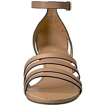 Franco Sarto Womens L-Della Leather Open Toe Casual Enkelband Sandalen