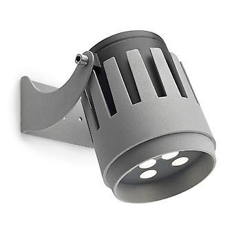 Outdoor LED Strahler Grau 2833lm 3000K IP65