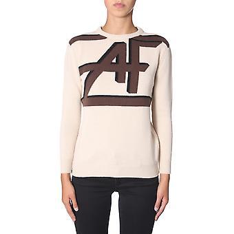 Alberta Ferretti 095066021081 Frauen's Beige Wolle Pullover