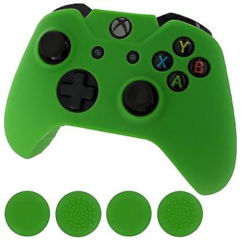 Zedlabz Silicone rubber Skin grip Cover & duim grip Pack voor Xbox One controller-groen