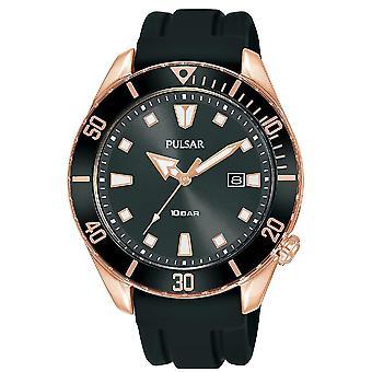 Pulsar Herre Sports Silcone Strap Rose Gold Sag Dykkere Inpsired Sag 100M Watch