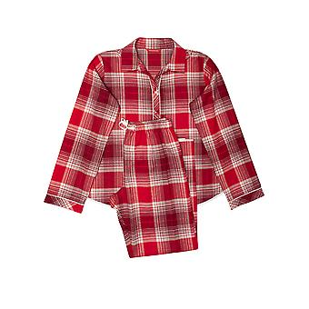 Minijammies Megan 5660 Girl's Red Mix Check Pyjama Set