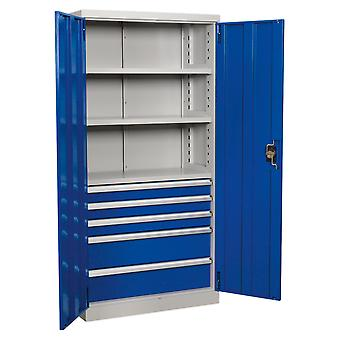 Sealey Apiccombo5 Industrial Cabinet 5 Drawer 3 Shelf 1800Mm