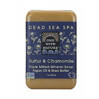 Un avec Nature Sulfur & Camomille Dead Sea Spa Bar Savon, 7 Oz