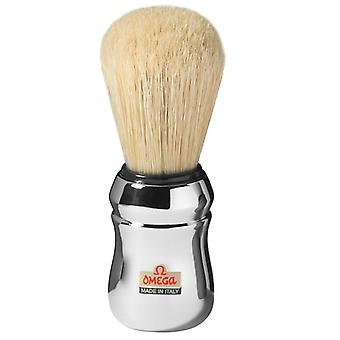 Cepillo de afeitar Omega Pig Hair Chrome Handle